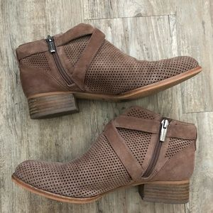 Vince Camuto Shoes - Vince Camuto Casha perforated suede ankle boots